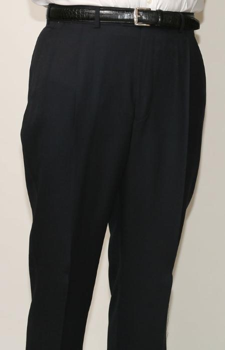 SKU#JD9972 70% Polyester Navy Somerset Pleated Trouser $99