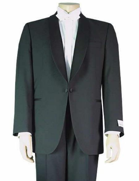 SKU# JK7 1Button Shawl Collar Single Breasted Tuxedo Jacket