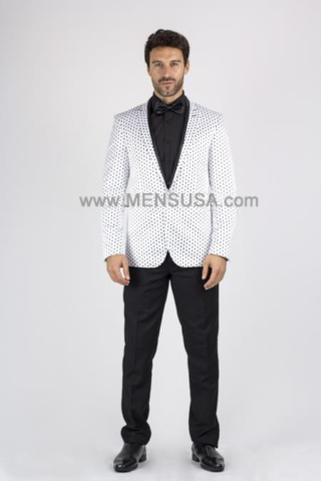 Button White Slim Polka