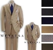 SKU# CSW862 1 Men + 1 Boy MATCHING SET FOR BOTH FATHER AND SON 3 Button super fine wool feel poly~rayon SUIT $289