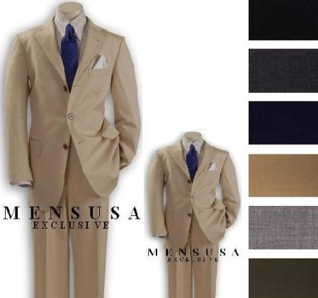 SKU# IRX809 1 Men + 1 Boy MATCHING SET FOR BOTH FATHER AND SON 3 Button WOOL SUIT $289