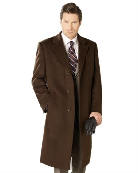 SKU#EF8302 90% Wool Top Coat Brown $175