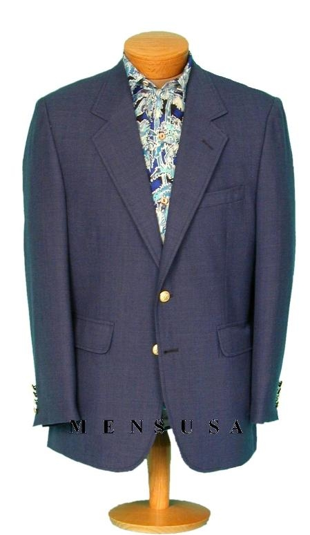 SKU#YOG124 13-20 Mens 2 Buttons Charcoal Blue (Almost Teal) Blazer (Men + Women) $175