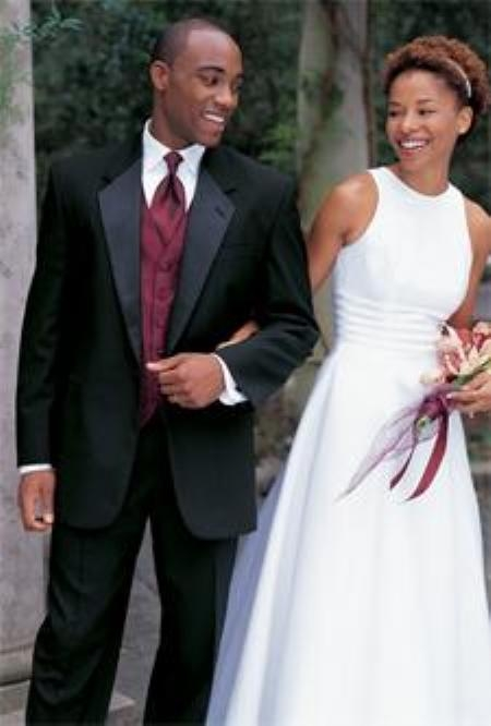 SKU#LO786 Buy & Dont pay Tuxedo Rental 1 Button Notch Lapel Tuxedos