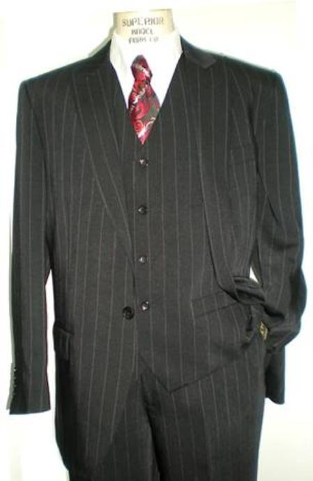 SKU#RH11XX 1 Button Peak Laple Vested Soft Light Weight Suit $109