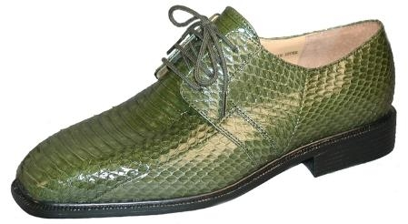 SKU#JK155225 Plain toe 4 eyelet blucher with snake skin. Man-made sole $139