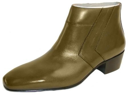 SKU# :1554851 Plain-toe demi boot with calfskin. Rubber sole.