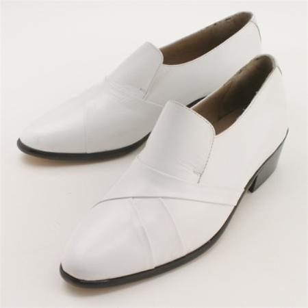 SKU#2446161 White Calfskin Slip-On