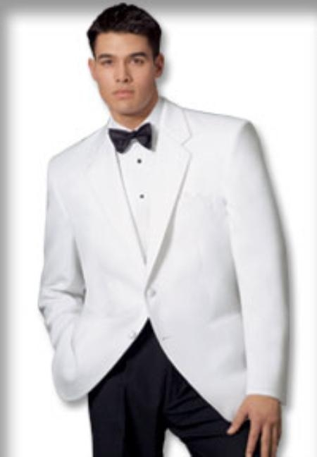SKU# HXX333 1 or 2 button, Notch lapel front Dinner Jacket Single Breasted