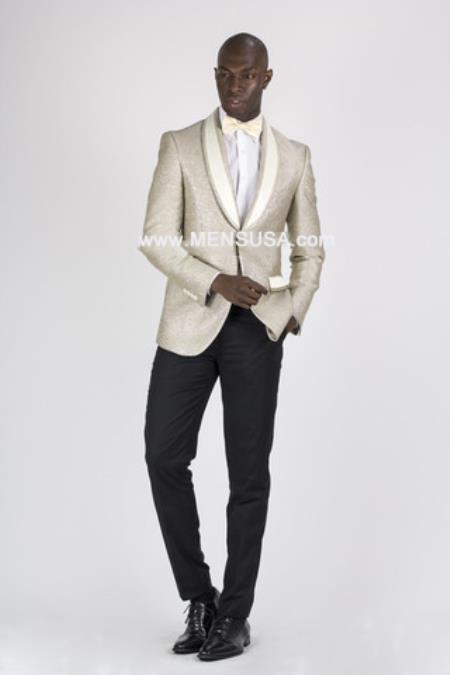 Button Champagne Slim Fit