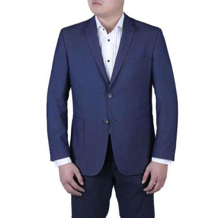 Button Mens Navy Blue