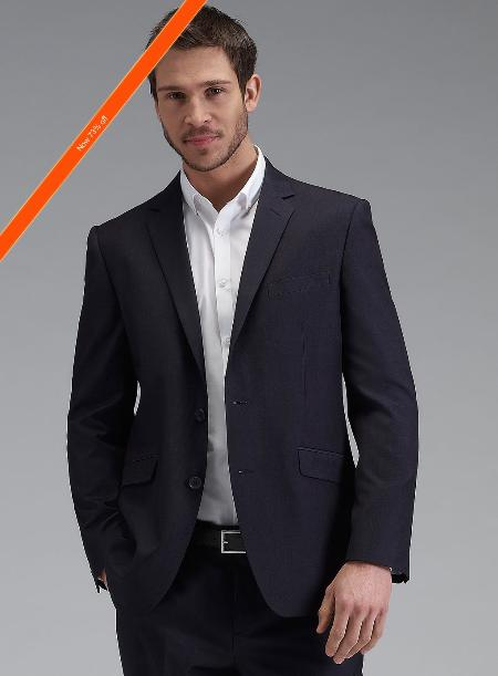 SKU#YC3921 Men's Navy Tonic Slim Fit Suit 2-Button