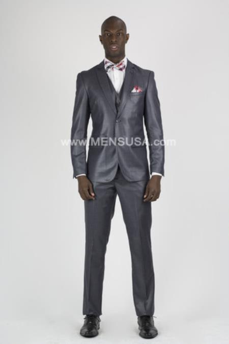 Button Notch Lapel Suit