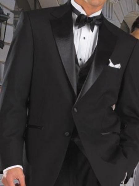 MensUSA.com 2 Button Super 120s Wool Tuxedo jacket Pants(Exchange only policy) at Sears.com