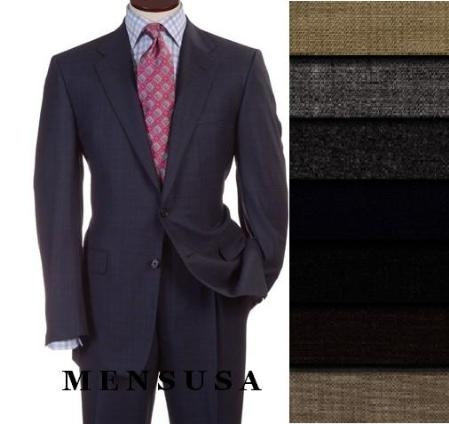 SKU#HAR77 TWo 2 Buttons Style Super Worsted Vergin Wool Business Suits Comes in 10 colors