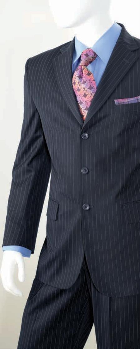 Mens 2 Piece Classic Suit - Pinstripe
