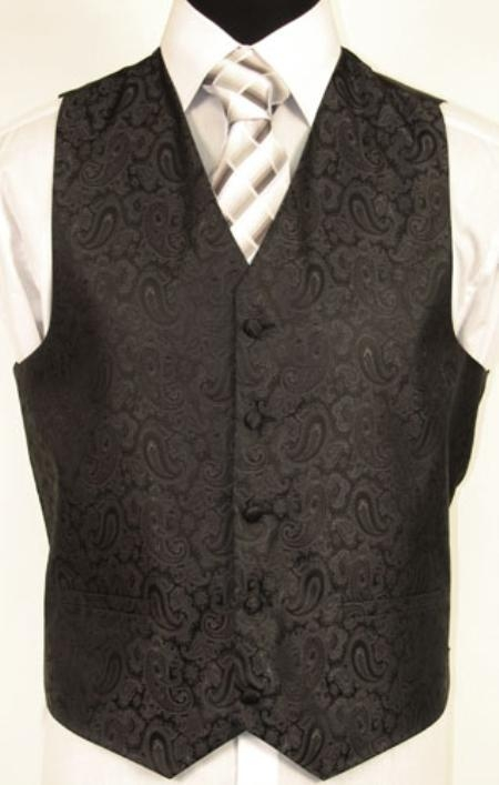 SKU#MT2289 BLACK VEST $75