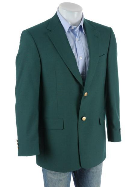 SKU#1326 Ivy Green Antique brass crest buttons Blazer Natural shoulders (Men + Women) $179
