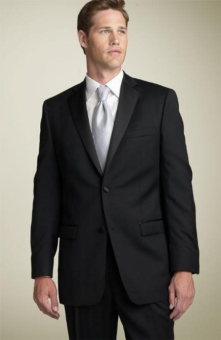 SKU#ER567 2 BUTTON EXTRA FINE HAND MADE TUXEDO 100% WOOL WITH NOTCH LAPLE