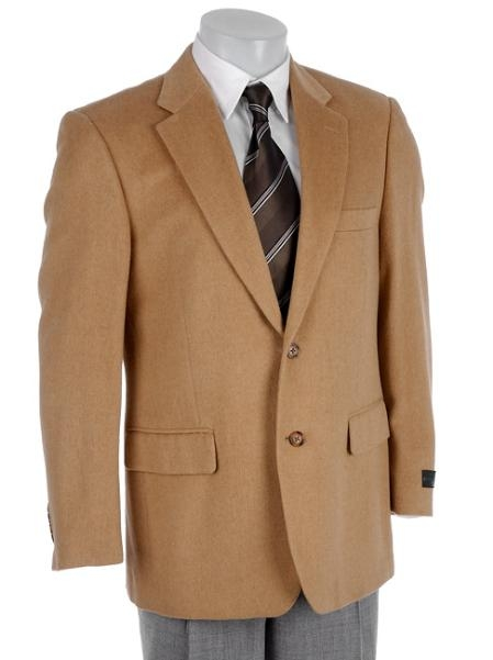 SKU# WUW194 2 Button 369-4 Camel/Bronz Sport Coat 100% Camel Hair (Cashmere Touch) Center V
