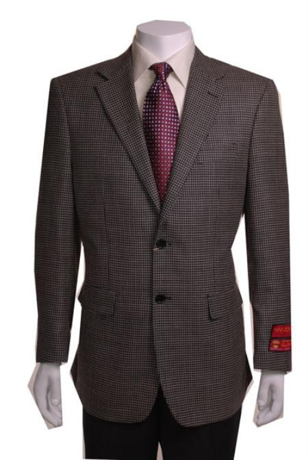 MensUSA.com 2 Button Black and Gold Sports Coat(Exchange only policy) at Sears.com