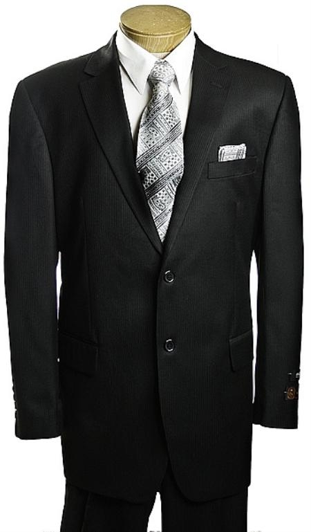 SKU#NE1346 2 Button Black Tone/Tone affordable suit online sale