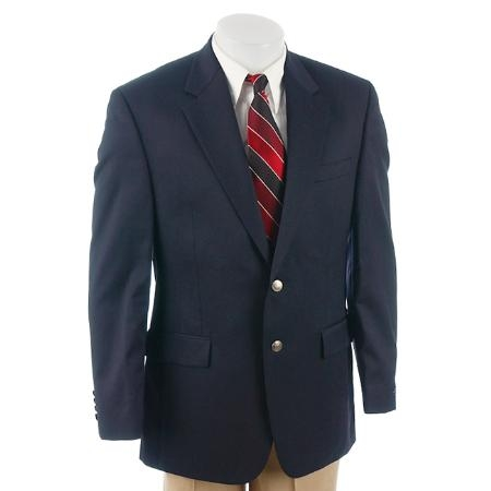 SKU# JUK572 2-Button Navy Blue Sport Coat/Blazer wardrobe essential $99