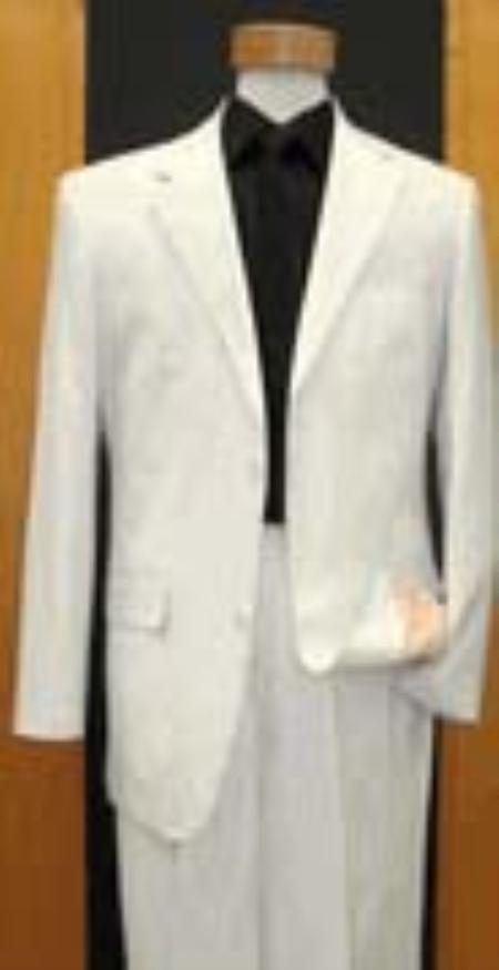 SKU#KE534 2 Button Tapered cut Half Lined Flat Front Linen Suit $149