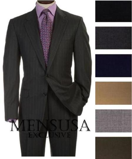 SKU# ML55 2 Buttons Style Super Worsted Virgin Wool Business Suits Comes in 25 colors $175