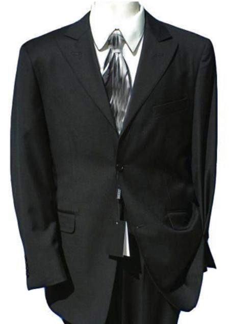 SKU# AN_M1181S 2 Button Peak Lapel Suit Comes in Black / Navy / Charcoal Gray / Light Gray