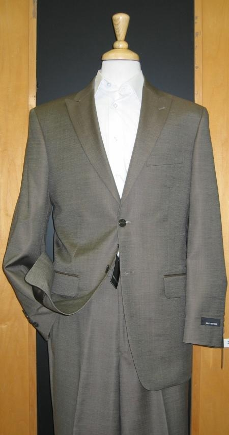 MensUSA 2 Button Peak Lapel Jacket Flat Front Pants Light Olive Taupe tapered slim fitted at Sears.com