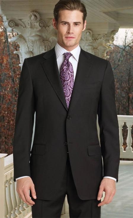 SKU#ML2222 2pc 2 Button Charcoal Gray Super 150s With Hand Pick Stitching on Lapel $199