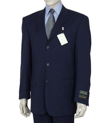 SKU# MLD245 3 Button Dark Navy Blue Men