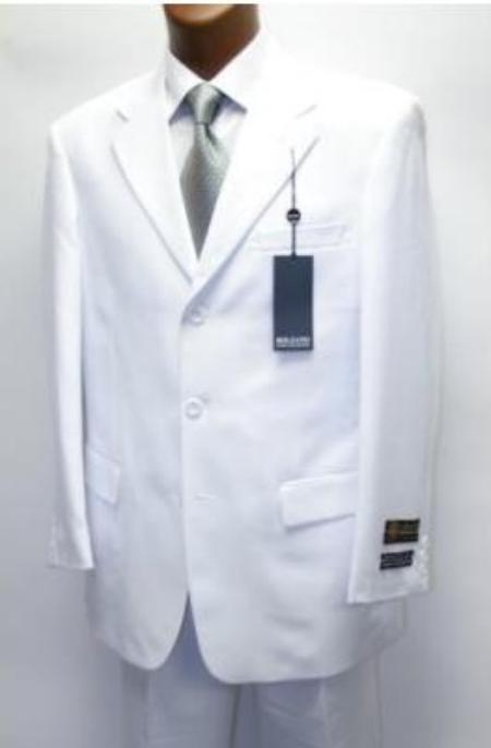 SKU# XXA948 Cheap Quality No lining 3 button Stylel White Suit