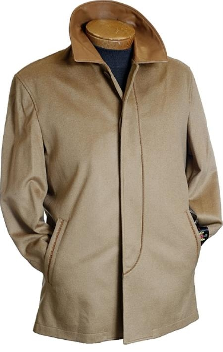MensUSA.com 3 4 Camel Wool Coat(Exchange only policy) at Sears.com