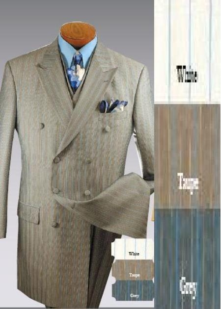SKU# Mudltt1 34 Inch Jacket Comes With Wide leg pants Double-breasted, 6-button style, Peak lapel -