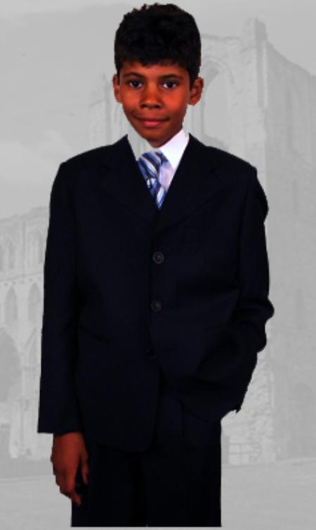 SKU:SKU42855 B-100 Black Boys Dress Suit Hand Made