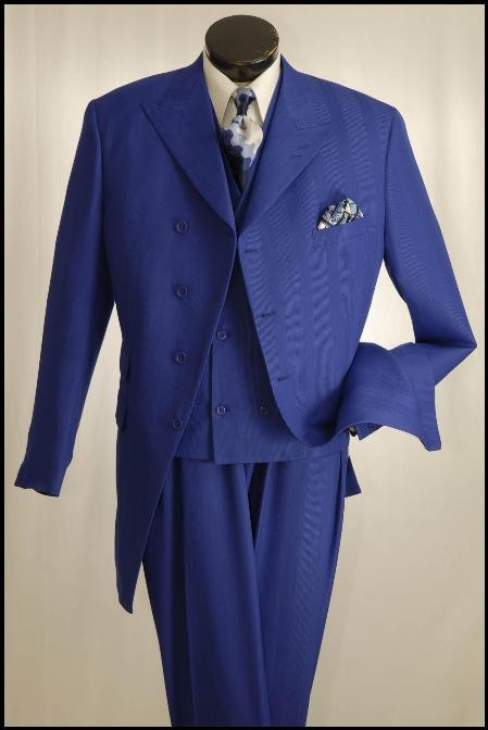 SKU#NS701 3 Piece Suit 34 Inch Length Jacket $139