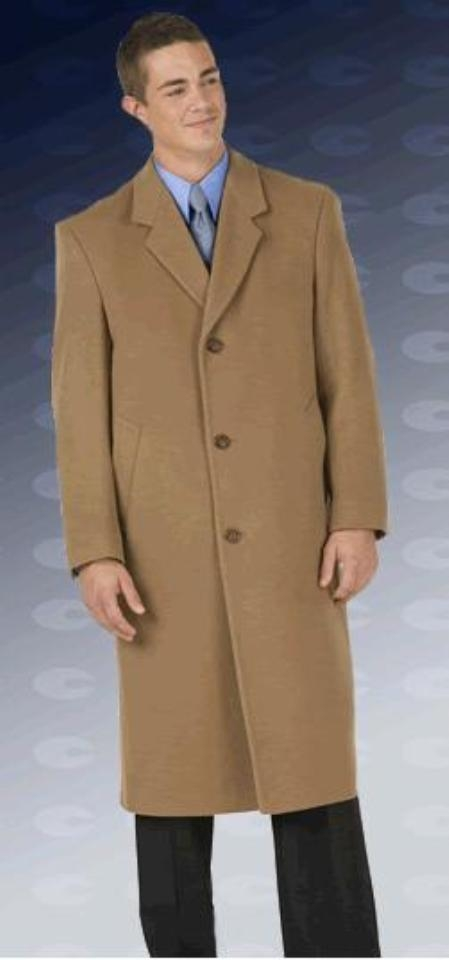 "EMIL-CT03 Sentry8811 45"" single breasted classic model features button through front, notch lapel $135"