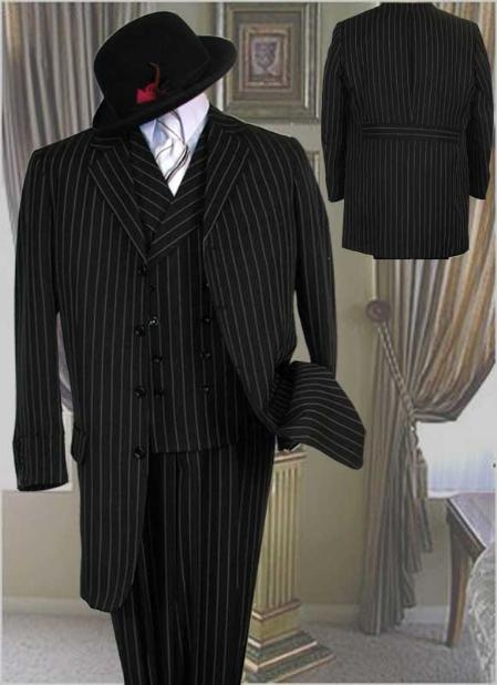 SKU# MMF112 3 Buttons Jacket With Wide Leg Pants With Double Breasted Vest in 3 Colors $179