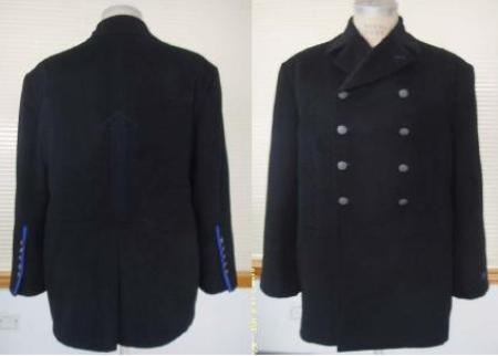 AC 5018 - Black Asymmetrical Pea Coat