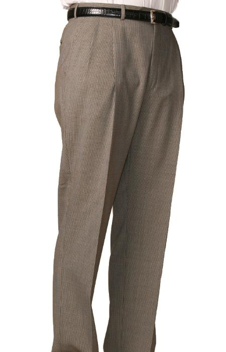 SKU#GF0293 55% Dacron Polyester Olive Somerset Double-Pleated Slaks / Dress Pants Trouser Harwick Made In USA America $110