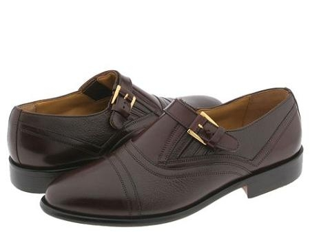 SKU# OXV920 65491 INDIA/TAN Classic cap toe slip-on with strap and buckle