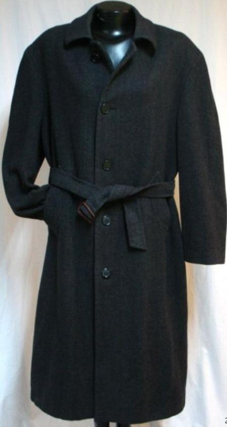 SKU#Coat-06 New Charcoal Gray Vitorri Angel mens Full length 4 button Hidden Button wool blend top $199