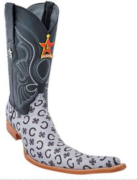 Botas tribaleras Men Cowboy Boots Los Altos Western Leather 9x Toe Vin