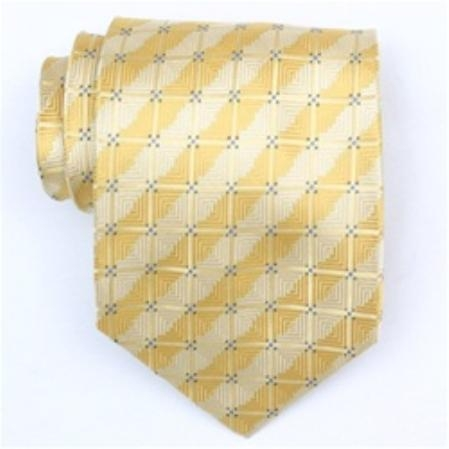 SKU#SW377-A-L   Silk Yellow/Blue Extra Long Woven Necktie