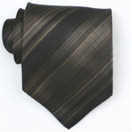 SKU#SW401AL  Silk Brown/Black/Tan Extra Long Woven Necktie