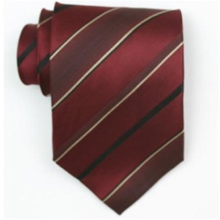 SKU#SW455AL  Silk Burgundy/black/gold Extra Long woven necktie
