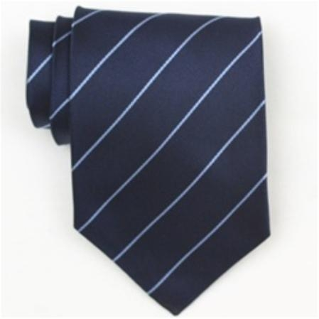 SKU#SW442AL  Silk Navy/It.Blue Extra Long Woven Necktie $39