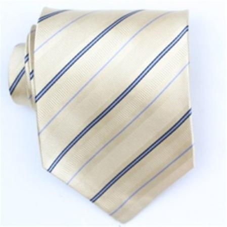 SKU#SW379AL  Silk Yellow/Navy/Lt.blue Extra Long Woven Necktie $1